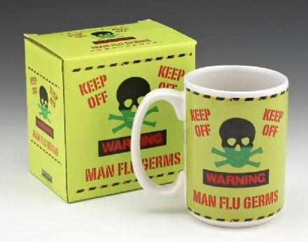 Man Flu Germs Novelty Mug